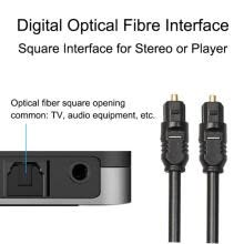 -Digital Optical Fiber Audio Cable Flexible Plug-and-play Connector Cord For Television Computer Digital Camera on JD