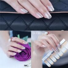 -DIY 3D Polish Strips 14 Stickers False Nails Kit Decal Gradient Series Lovely Color Women's Beauty on JD