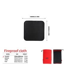 -BBQ Fireproof Cloth Grill Mat Flame Retardant for Outdoor Camping Deck on JD