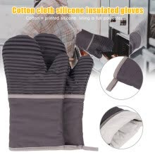 -1 Pair Oven Mitts with Quilted Cotton Lining Heat Resistant Up to 500 Degrees Fahrenheit Kitchen Gloves Flame Oven Mitt Set on JD