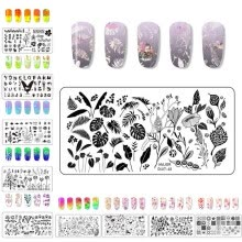 -Splice Image Plate Nail Art Design Stamping Kits Manicure Template Set on JD