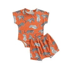 -Summer Baby Boys Animal Print Short Sleeve Romper Shorts Clothes Sets on JD