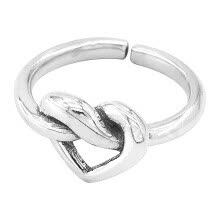 -ANNA New Fashion Creative Love Knot Ring To Highlight Your Unique Personality on JD