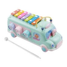 -Muslady Kids Xylophone Toy Bus Musical Education Percussion Instrument with Mallet for Toddler Young Kids Children on JD