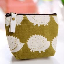 -Canvas Printed Coin Purse Mini Tote Portable Pouch Purse Trinket Jewelry Tin Key Coin Storage Bag Zipper Change Case Purses on JD