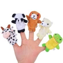 -10pcs Cute Animal Velvet Finger Puppets Panda Rabbit Elephant Party Favors Gift for Kids Playtime on JD