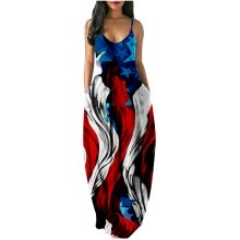 parties-formal-events-Women's Casual Maxi Dress Sexy Stripe Sleeveless Long Dress Plus Size Dress on JD