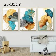 -Plant Leaf Abstract Poster Nordic Canvas Print Wall Art Painting Modern Picture on JD