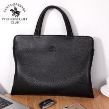3104f69217f3 St. Paul s POLO handbag men s first layer leather business briefcase cross  section trend shoulder slung men s bag M80680216 black