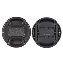 -55mm Center Pinch Snap-on Lens Cap Cover Keeper Holder for Canon Nikon Sony Olympus DSLR Camera Camcorder on JD