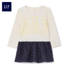 -GAP flagship store children's clothing baby cotton stitching dress 399284 ivory white 73cm (6-12 months) on JD