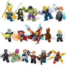 -16pcs/lot Avengers 3 Infinity War Action Figure Black Panther Thanos Hulk Building Blocks Compatible with LegoINGlys Marvel Toys on JD