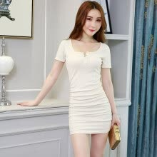 Sexy dress female 2018 summer new temperament slim work skirt night show  bare chest nightclub bag hip skirt 7b7905cfd