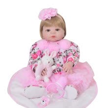 -New Arrival 23 Inch 57 cm Silicone Full Body Reborn Doll Real Life Princess Baby Doll For Children's Day Gift Kid Accompany Toy on JD