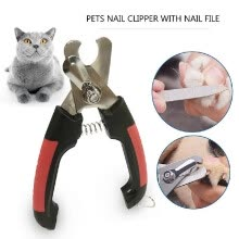 -Professional Pet Dog Nail Clipper with Lock and Nail File Grooming Scissors Clippers for Animals Cats Size L on JD