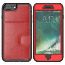 -MOONCASE Samsung Galaxy Note 9 three anti-holster card package series - red on JD