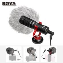 video-cameras-BOYA BY-MM1 Mini Cardioid Microphone Metal Electret Condensor Video Mic 3.5mm Plug for iPhone 6/ 6plus for Samsung Huawei Smartpho on JD