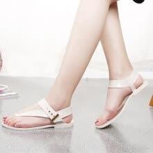 393d14acb 2019 Summer Bohemia Fashion Flat Women Sandals Slingback Cut Out Buckle Flip  Flops Rome Slip on Beach Shoes