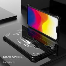 Original R-JUST Case For VIVO X21 Luxury Spider Aluminum Metal Bumper Mirror Acrylic Back Cover For VIVO X21 Screen Fingerprint