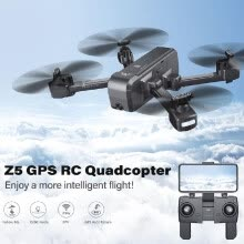 -SJ R/C Z5 1080P Wide-angle Camera Wifi FPV Drone GPS Auto Return Follow Me Gesture Photo RC Quadcopter w/ 3 Battery and Shoulder B on JD