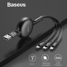 -Baseus 3.5 A High Speed Charging and Data Transfer USB Cable ,Fast charge for iphone  XS XR Samsung Note 8 Glaxy S9 HuaWei XiaoMi on JD