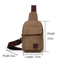 -Men Retro Canvas Sling Chest Bag Zipper Shoulder Bag Cycling Bag Messenger Bags on JD