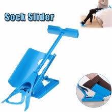 -1pc Sock Slider Aid Blue Helper Kit Helps Put Socks On Off No Bending Shoe Horn Suitable For Socks Foot Brace Support on JD