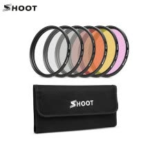 -SHOOT XTG422 6-in-1 58mm Action Camera Diving Filter Set Includes ND2/UV/CPL/Red/Purple/Yellow Filters for GoPro Hero 5/6/7 Black on JD