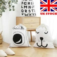 -Baby Toys Storage Canvas Bags Bear Laundry Hanging Drawstring Washing Bag UK on JD
