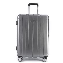58c1b0194 US travel trolley case 20 inch universal wheel mute luggage male business  travel female suitcase Deng chassis TSA password lock BJ9 silver
