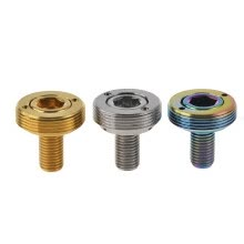 parts-components-Wanyifa Titanium Crank Bolt Велосипед Велосипед Ti Винт Extractor Sleeve M8x15mm on JD
