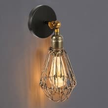-Loft cage wall lamps industrial wall lights Vintage edison accessories outdoor lighting lights on JD