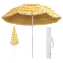 -Beach Umbrella Natural 118.1' Hawaii Style on JD