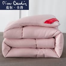 -Pierre Cardin quilt is core washed quilt thickened four seasons spring and autumn is brushed winter double warm quilt Anna jade 200*230cm 6 kg on JD
