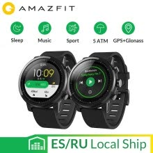 -Английская версия Huami Amazfit Stratos Smart Sports Watch 2 GPS 5ATM Water 1.34 '' 2.5D Экран GPS Firstbeat Swimming Smartwatch on JD