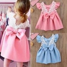 de4a7990e Fashion Baby Girls Dress Toddler Princess Bow Dresses Kids Ball Gown Party  Dress Sundress