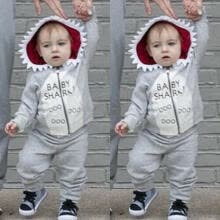 -UK Cotton Kids Baby Boy Hoodie Clothes T-shirt Tops Pants Outfits Set Tracksuit on JD