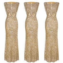 -〖Follure〗Women Formal Prom Party Ball Gown Sexy Sleeveless Backless Sequin Long Dresses on JD
