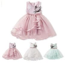 -Floral Toddler Kid Baby Girl Dress Princess Pageant Wedding Lace Tutu Dresses Clothes on JD
