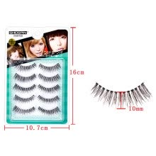 -〖Follure〗Makeup5 Pairs Natural Long Fake Eye Lashes Handmade Thick False Eyelashes Black on JD