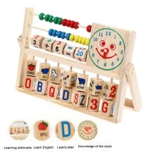-Kids Boy Girl Baby Learning Early Educational Development Abacus Wooden Toys US on JD