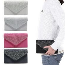 -Evening Bag Purse Women Clutch Handbag Lace Envelope Clutch Bag Party Wedding US on JD