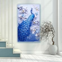 needlework-Inkfish diamond painting 8328 Flamingo 50*50cm full diamond full diamond embroidery new cross stitch animal brick painting bedroom living room modern minimalist decorative painting on JD