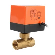 -220V Electric Motorized Thread Ball Valve Air-conditioning Water System Controller 2-way 3-wire on JD