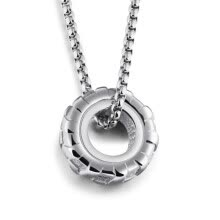 -Trendy Men Jewelry Classic Tyre Roung Ring Pendant Necklaces Hip Hop Punk Style Titanium Gold Plated Box Chain Necklace on JD