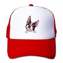 f47f6aae24050 akowei Boston Terrier Adjustable Printing Snapback Mesh Hat Unisex Adult  Baseball Mesh Cap