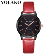 -YOLAKO Fashion large dial watches woman students WristWatch Damen simple Clock leisure belt retro lovers quartz watch 533 on JD