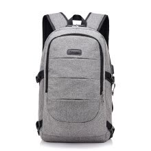 -Backpack Charging with Headphones Locking Security Korean Large Capacity Computer Backpack on JD