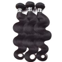 -Amazing Star Brazilian Virgin Hair Body Wave 3 Bundles 100% Human Hair Weave Soft and Bouncy Brazilian Hair Bundles Natural Color on JD