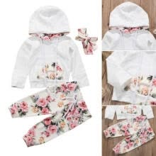 infant-health-care-3PCS Baby Boy Girl Infant Clothes Hooded Top Pants Infant Outfits Sets Tracksuit on JD